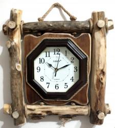 Ceas decorativ din lemn rustic