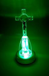 Cruce Ortodoxa din plastic cu led multicolor verde
