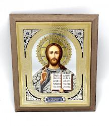 Icoana frezata aurie Iisus binecuvantand