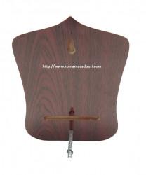 Icoana pe lemn aurie Maica cu Pruncul pentru birou spate