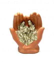 Icoane aurii in palme din ceramica