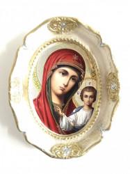 Plachet ipsos icoana ovala Sfanta Maria cu pruncul