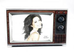 Rama foto, model televizor vintage