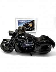 Rama foto si motocicleta din plastic cu ceas
