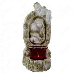 Candela din ipsos Maria cu pruncul cu ingeras