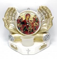 Candela ipsos ceas cu icoana Tronul Maicii Domnului