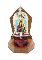 Candela Ortodoxa cu pahar tip troita din lemn