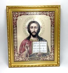 Icoana Iisus binecuvantand in rama