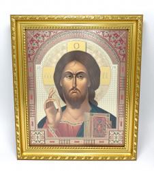 Icoana in rama Iisus Binecuvantand