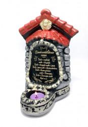 Candela troita din ceramica cu mesaj binecuvantarea casei