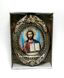 Icoana ceramica Iisus din Kazan binecuvantand
