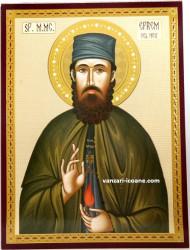 Icoana ortodoxa Sfântul Efrem cel Nou