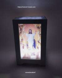 Veioza religioasa cu icoane 3D si led
