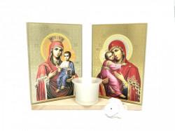 Candela cu Icoane Sfintite Maica Domnului