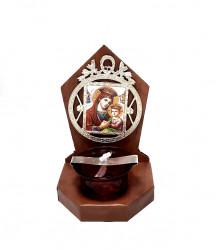 Candela Ortodoxa din lemn  Maica Domnului cu Pruncul