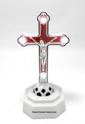 Cruce ortodoxa din plastic cu leduri verzi sau rosii