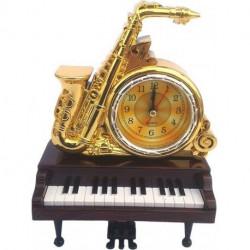 Decoratiune din plastic Ceas saxofon si pian