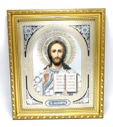 Icoana in relief aurie cu rama Iisus Hristos