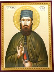 Icoana Sfântul Cuvios Efrem Sirul