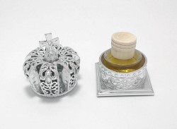 Mitra argintie cu Mir Sfintit