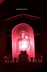 Candela electrica din lemn  icoana Maicii Domnului