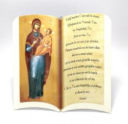 Icoana ceramica tip carte cu Rugaciunea Tatal nostru