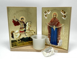 Icoane candela CU SFANTUL Gheorghe si Braul Maicii Domnului