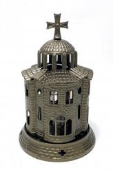 Candela Bisericuta bronz din antimoniu cu pahar