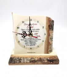 Ceas traditional din lemn Binecuvantarea casei