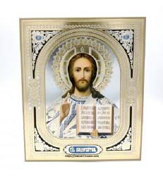 Icoana medalion aurie Iisus Mantuitorul
