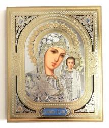 Icoana medalion aurie Maica cu Pruncul Iisus