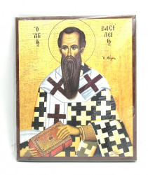 Icoana ortodoxa bizantina Sfantul Vasile cel Mare