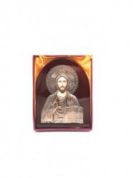 Icoana pe lemn cu suport Iisus binecuvantand
