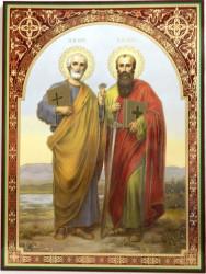 Icoana Sfintii Petru si Pavel 30x40 cm