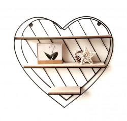 Raft decorativ in forma de inima