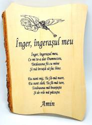 Aplica lemn  Inger ingerasul meu