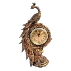 Bibelou din rasina Paun cu ceas
