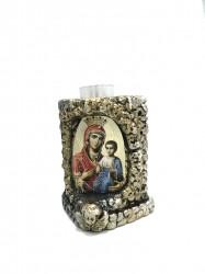 Candela ceramica  icoana Maica Domnului