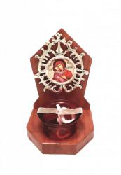 Candela ortodoxa troita din lemn Maica Domnului