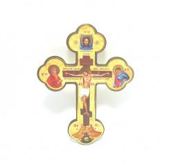 Cruce ortodoxa din lemn cu margini rotunde