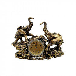 Statueta birou ceas cu elefanti norocosi