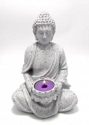 Statueta Buddha cu suport de lumanare