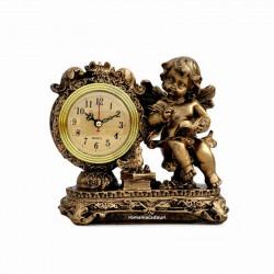 Statueta Inger cu ceas ingrijind o pasare