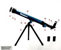 Telescop astronomic cu lentila  de 40 mm si trepied