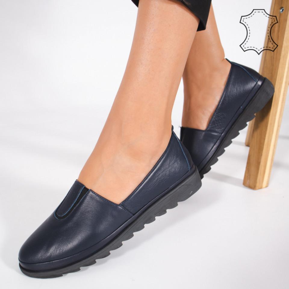 Pantofi Piele Naturala YOD Albastri