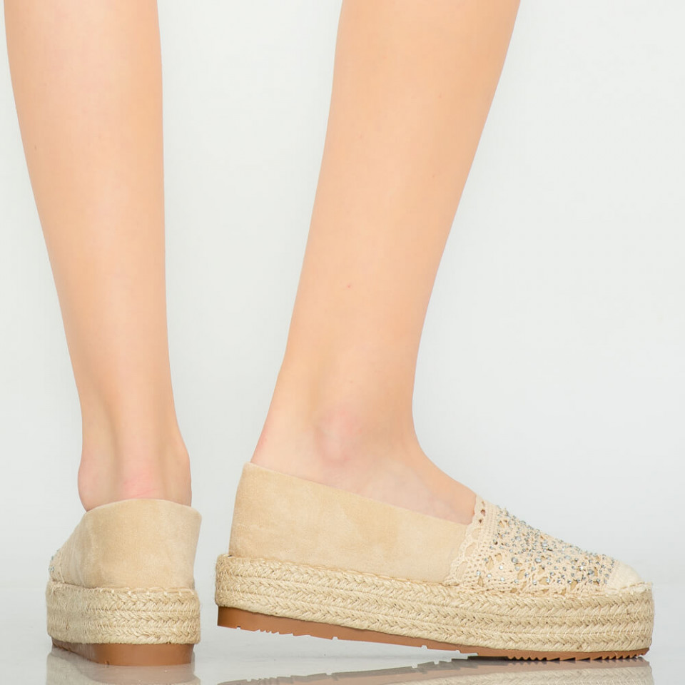 Pantofi casual Mondy bej