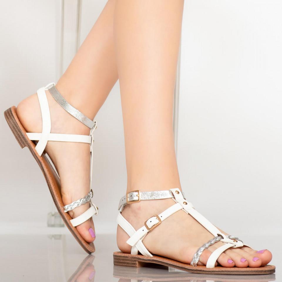 Sandale dama Dante albe
