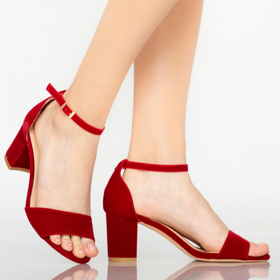 Sandale dama Jones rosii