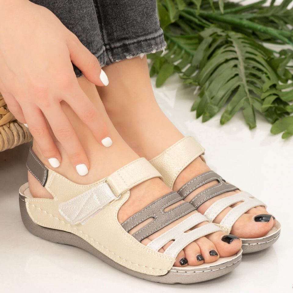 Sandale dama Lud bej
