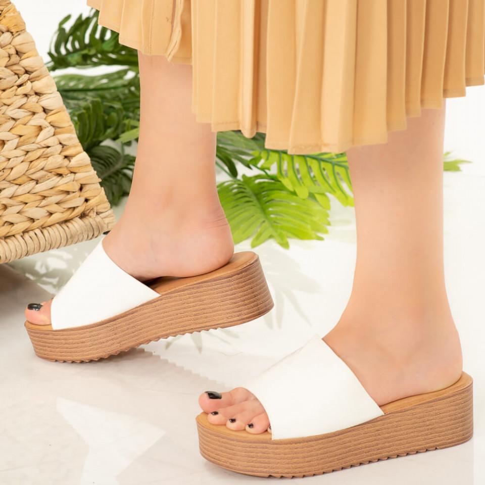 Papuci dama Dia albi